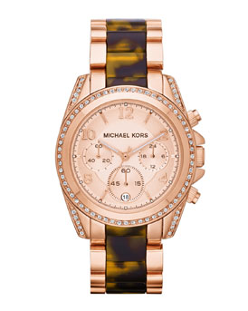 Micheal Kors Rose Gold Stainless Chronograph Watch 295 €
