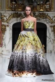 Strapless long printed dress