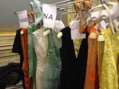 Charlotte Licha's dresses ready to be worn