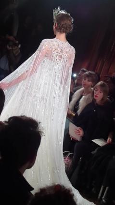 Back view from Charlotte Licha's wedding dress