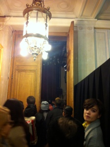 The Queue @ Paris Fashion Week 2014 Henrik Vibskov Show