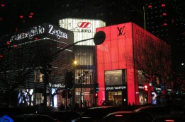 Zegna and Louis Vuitton Stores in Lippo Plaza, Shanghai