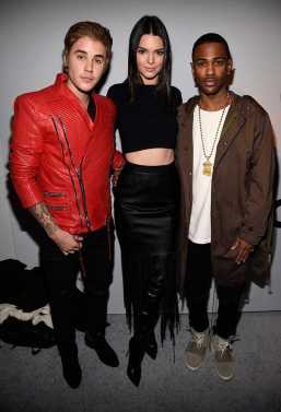 Justin Bieber, Kendall Jenner and Big Sean Pose Backstage at the Kanye West Adidas Show