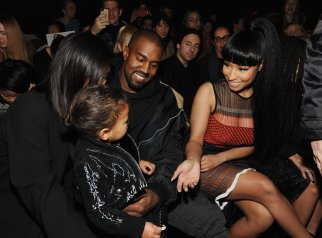 Nicki Minaj & North West at Alexander Wang