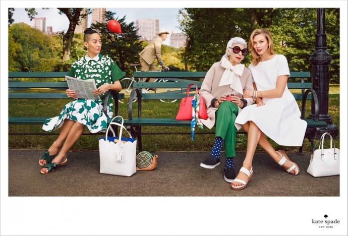 Iris apfel and Karlie Kloss for Kate Spade Newyork