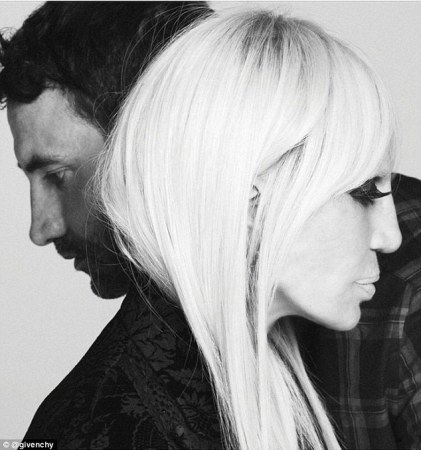 Riccardo Tisci & Donatella Versace Instagram Post