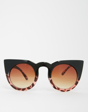 ASOS Round Cat Eye Sunglasses In Mixed Frame: 22$
