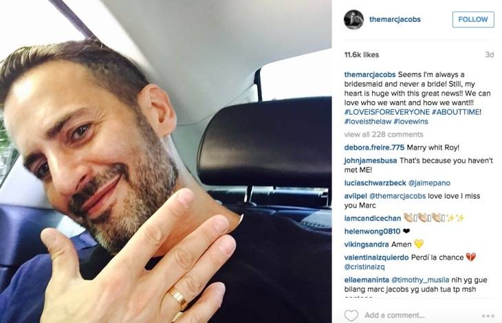 Marc Jacobs personal instagram