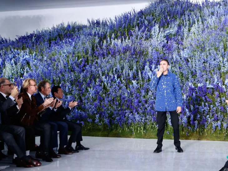 Raf Simons at the Dior SS16 show