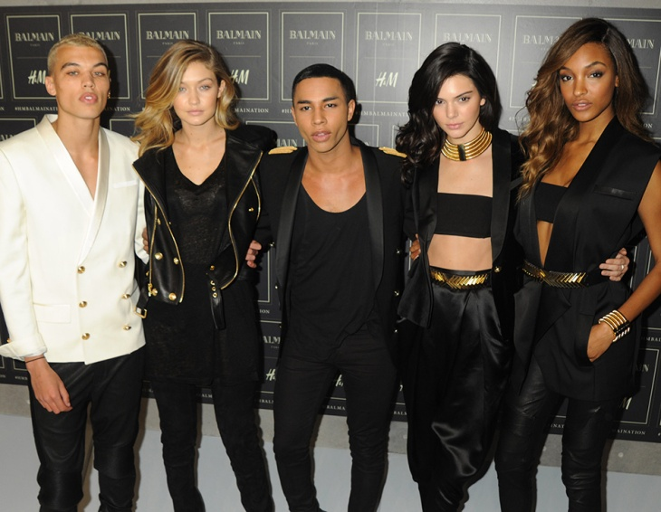 #hmbalmainiation: Olivier Roustaing and his models