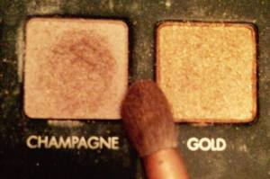 Champagne and Gold eye shadow