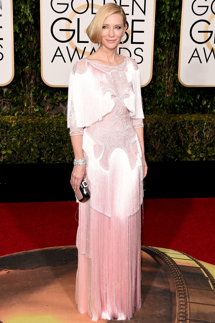 Cate Blanchett at the Golden Globe Awards 2016 in Givenchy