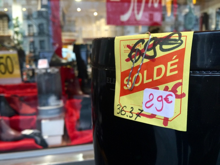 The Paris winter sales are here