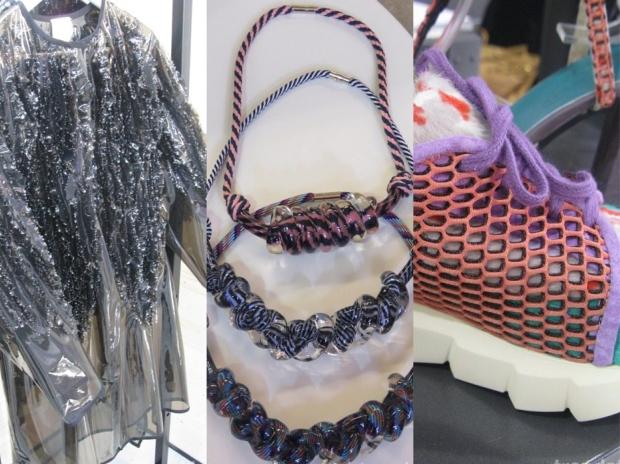 Plastics, jewellery and mesh, the keywords for the next season. Image credits to FMag