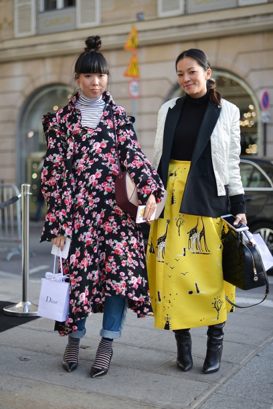 Susy Lau and Tina Leung at Miu Miu