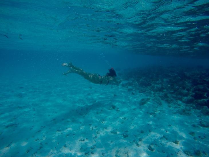 Snorkeling In The Deep Blue Sea, Maldives © Hailey Edy