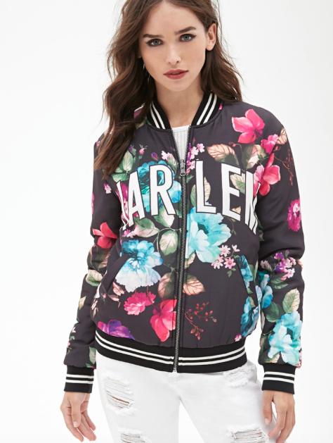 Harlem Floral Bomber Jacket