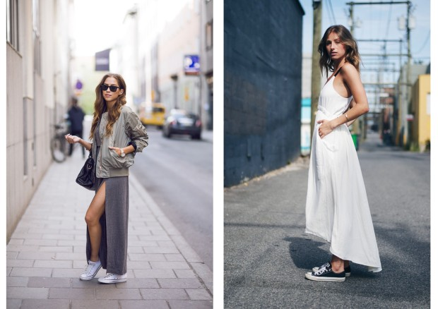 Long dress with converse