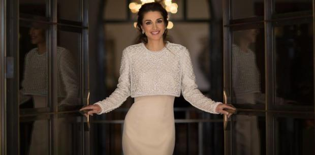 Queen Rania of Jourdan in Krikor Jaboutian S/S15 Collection