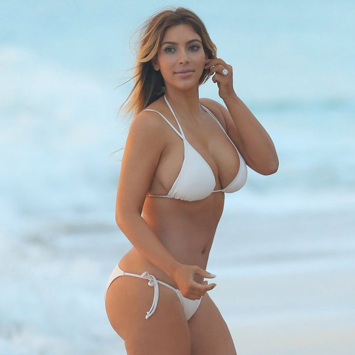Kim-Kardashian-White-Bikini-Pictures-After-Baby © media4.popsugar