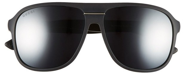 Gucci Aviator Sunglasses in Matte Black