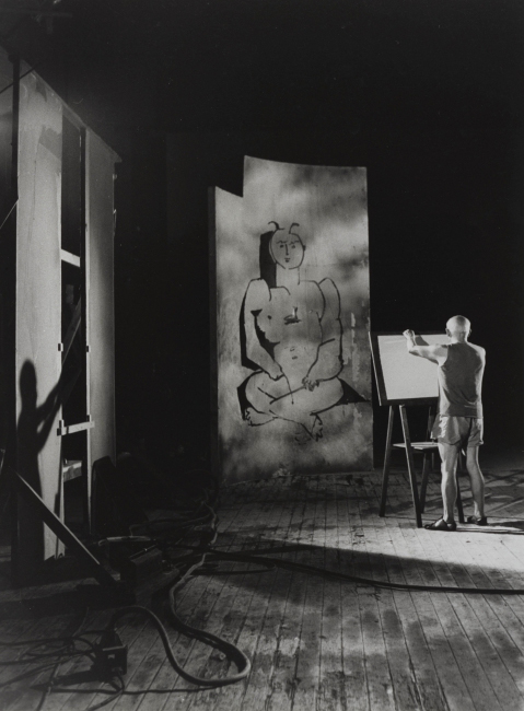 working Picasso, 1955