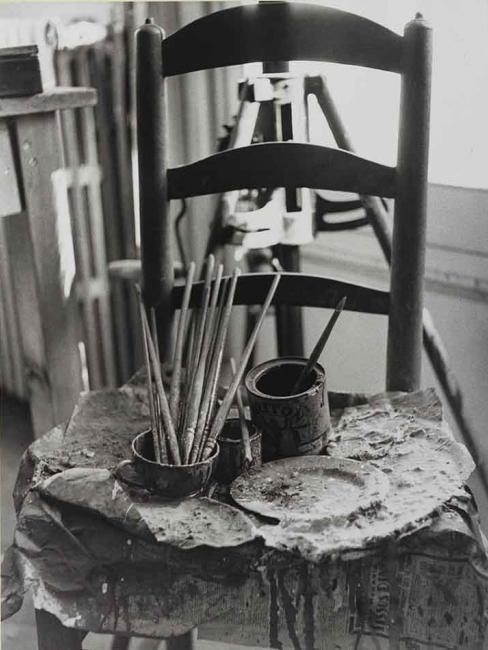 Picasso's palette, 1955