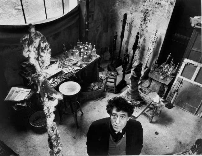Giacometti in his studio, 1957