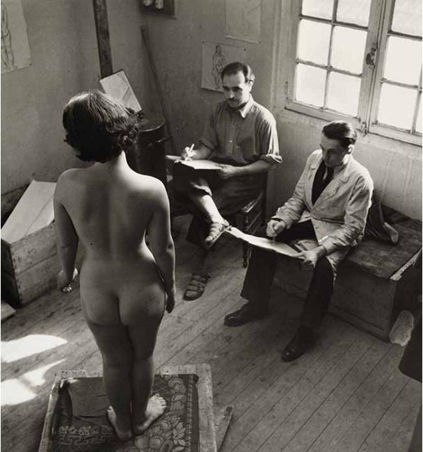 Nude studio in Montparnasse, 1936-1938