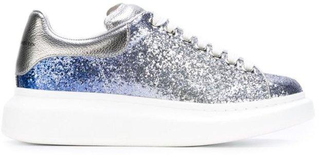 Alexander McQueen Larry Glitter Extended Sole Sneakers