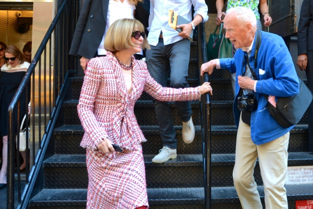 Bill Cunnningham and Anna Wintour © What we like NYC