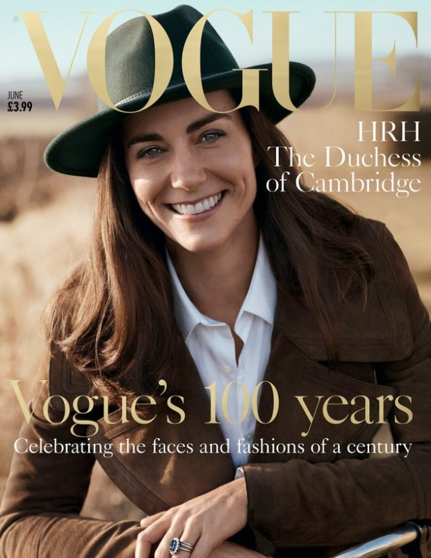 Kate Middleton on the British Vogue cover © Vanity Fair