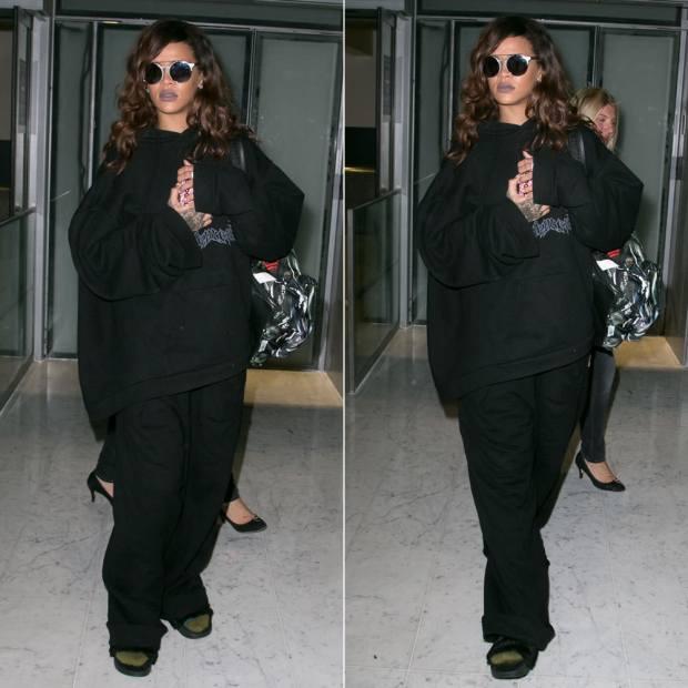 Laid back Rihanna look