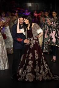 The designer with Aishwarya Rai Bachchan.