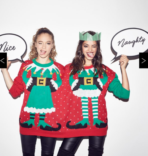Best Pals Elf Christmas Jumper | Lipsy