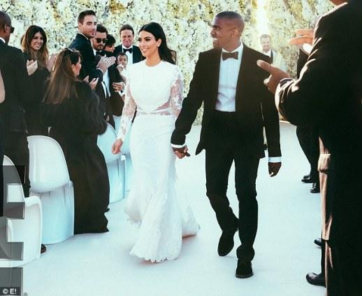 Kim Kardashian in Givenchy for her wedding